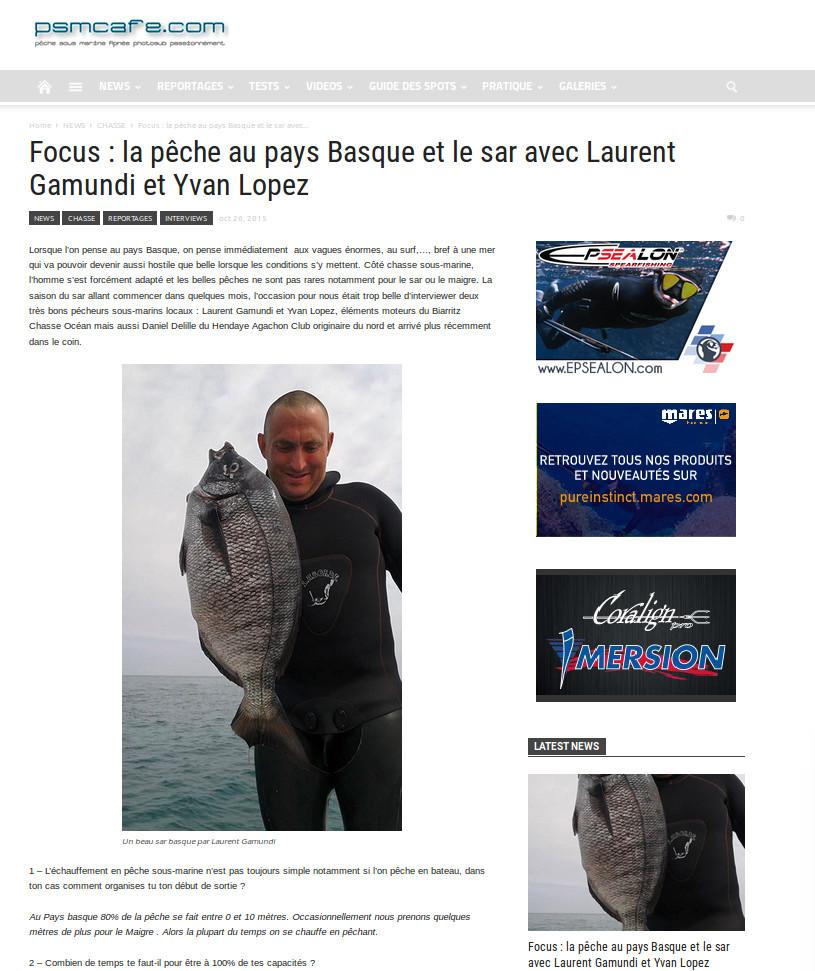Laurent GAMUNDI & Yvan LOPEZ - Chasse sous marine au Pays Basque